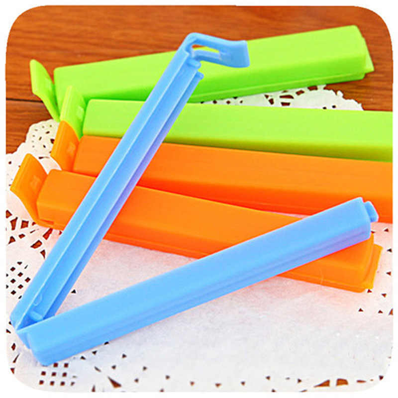 10Pc/Lot Househould Food Snack Storage Seal Sealing Bag Clips Sealer Clamp Food Bag Clips Kitchen Tool Home Food Close Clip