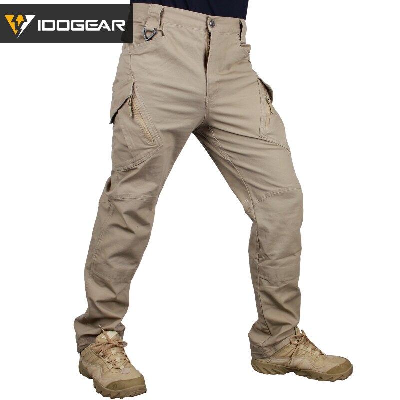 Aspirante Idogear Ix9 Duty Tattica Di Caccia Di Combattimento Pantaloni Airsoft Camoflage Pendolari Pantaloni Tattici Kaki Grigio