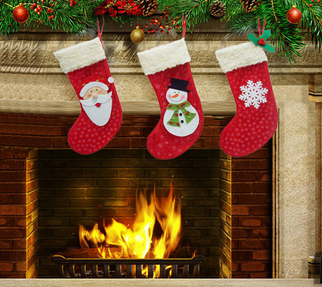 3pcs Set Large Personalized Christmas Stockings Santa Claus Snowman