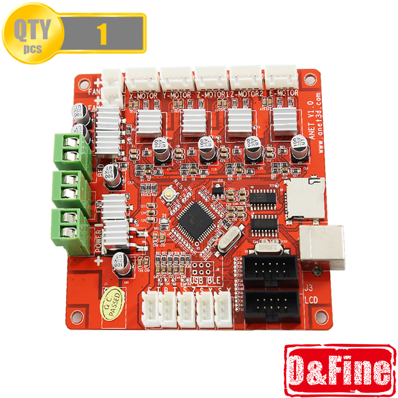 Anet 3D Printer Control Motherboard Main Board for Anet V1.0 Printer Control Reprap i3 Mendel for A8 printer anet update version controller board mother board mainboard control switch for anet a6 a8 3d desktop printer reprap prusa i3