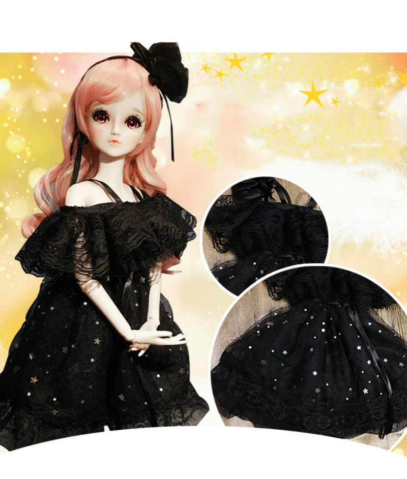 Bjd Doll Clothes 1/3 Sd Baby Clothes Dress Lovely Clothes Girl Gift Free Shipping Doll Not Include