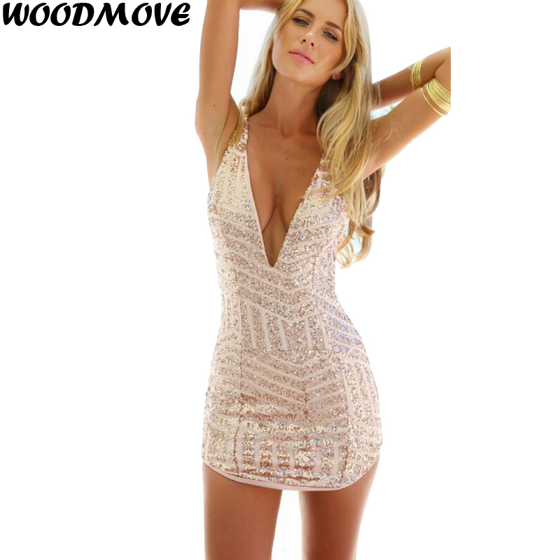 9c6c48fb45 Womens Sexy Plunging V Neck Sleeveless Sequin Bodycon Halter Mini Clubwear Dress  Deep V Neck Sleeveless Shine Sequin Mini Dress