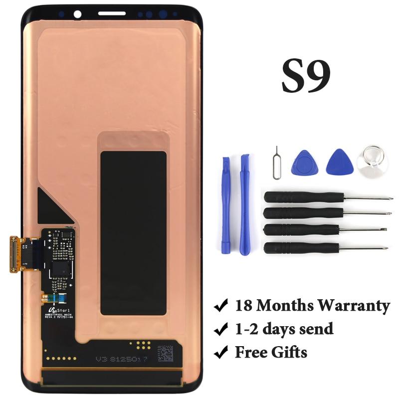 Pour Samsung S9 LCD affichage avec cadre Super AMOLED LCD avec assemblage d'écran tactile pour Samsung S9 G960 G960F remplacement d'écran