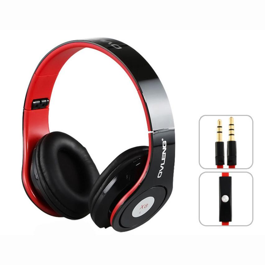 Portable Adjustable Headphone Headset 2017 High Quality Music Headphones with Mic 3.5mm Audio Cable for iPod MP3 Cellphone Nov21