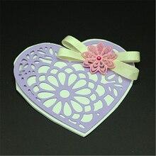 цена на AZSG Lovers heart-shaped Cutting Die for DIY Scrapbooking dies Decoretive Embossing Stencial DIY Decoative Cards die cutter