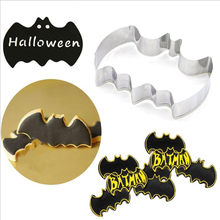 2018 New Halloween Batman Bat Cookie Tool Cutter Biscuit Press Icing Set Stamp Mold Stainless Steel Pastry Tools Kitchen Sets