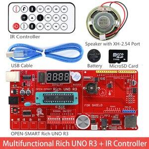 Image 2 - Rich UNO R3 Atmega328P Development Board Sensor Module Starter Kit for Arduino with IO Shield MP3 DS1307 RTC Temperature Sensor