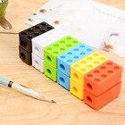 Cute Cartoon Kawaii Toy Brick Plastic Pencil Sharpener For Kids Creative Item Gift Korean Stationery Student 755