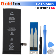 2018 100% New Phone Battery For iphone 6S Real Capacity 1715mAh With Tools Kit Mobile Batteries iPhone 6 S
