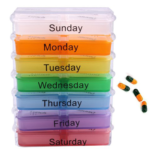 HTHL 7 Day font b Tablet b font Pill Boxes Storage Organizer Container Case