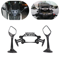 For Yamaha XMAX X MAX 250 300 2017 2018 Motorcycle Smartphone Mobile Phone Holder GPS Plate R25 mirror Bracket XMAX300 XMAX250