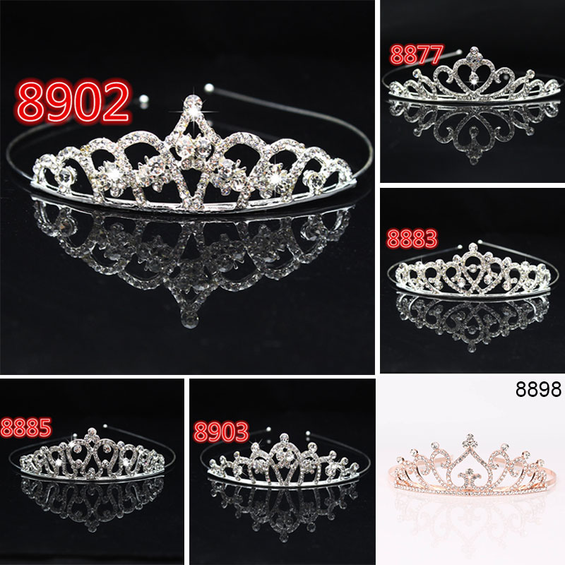 Bridal Wedding Crystal Tiara Headband Party <font><b>Princess</b></font> Prom <font><b>Crown</b></font> Kids Girl Hairband Hair Accessiories LXH image