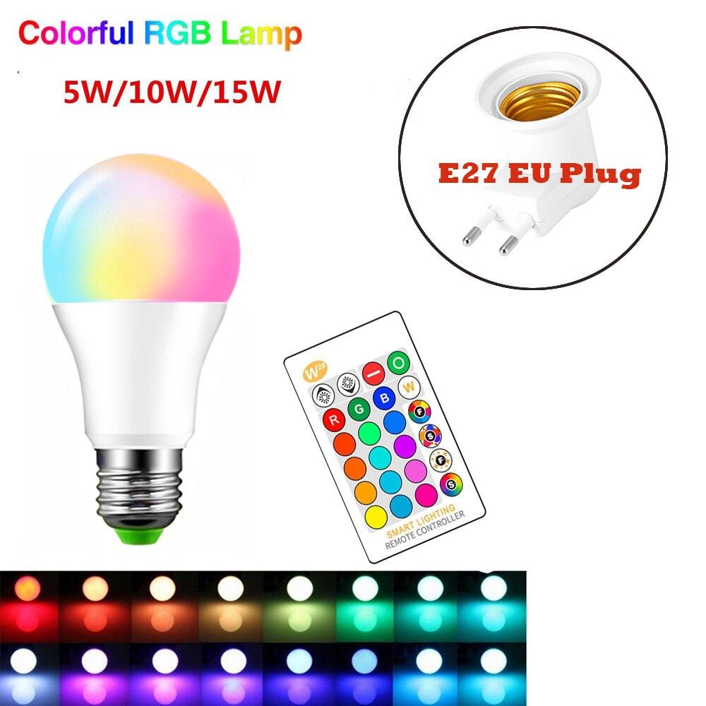 IR Remote Control 16 Color Changing Magic Light E26 E27 10W RGB LED Lamp Bulb