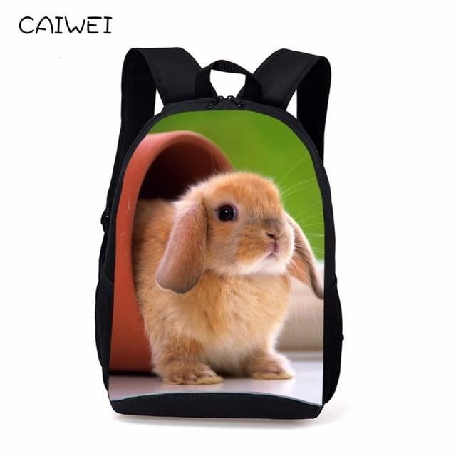 82a40220e5 16-inch Rabbit Backpack Kids Animal Bag Age 7-13 Children School Bags Boys  Girls For Teenagers Rucksack Mochila Escolar Menino