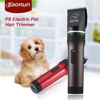 2 Colors Baorun P6 Electric Pet Hair Trimmer Professional Pet Clipper Scissors Dog Cat Shaver Grooming Kit Cutting Machine
