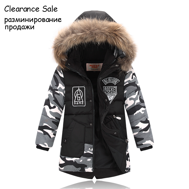 Winter Jacket For Boy Real Fur Hooded Down Jacket 2-10Y Kids Boys Casual Warm Thicken Children Winter Outerwear & Coats Winter Jacket For Boy Real Fur Hooded Down Jacket 2-10Y Kids Boys Casual Warm Thicken Children Winter Outerwear & Coats