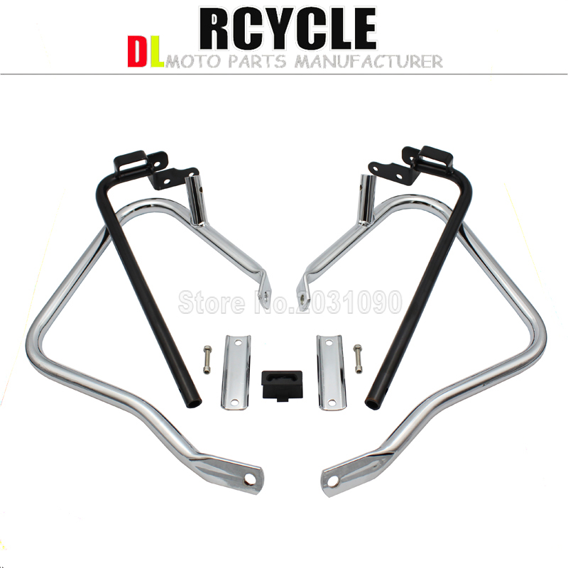 Saddlebag Bracket Guard Bars For Harley Touring Street