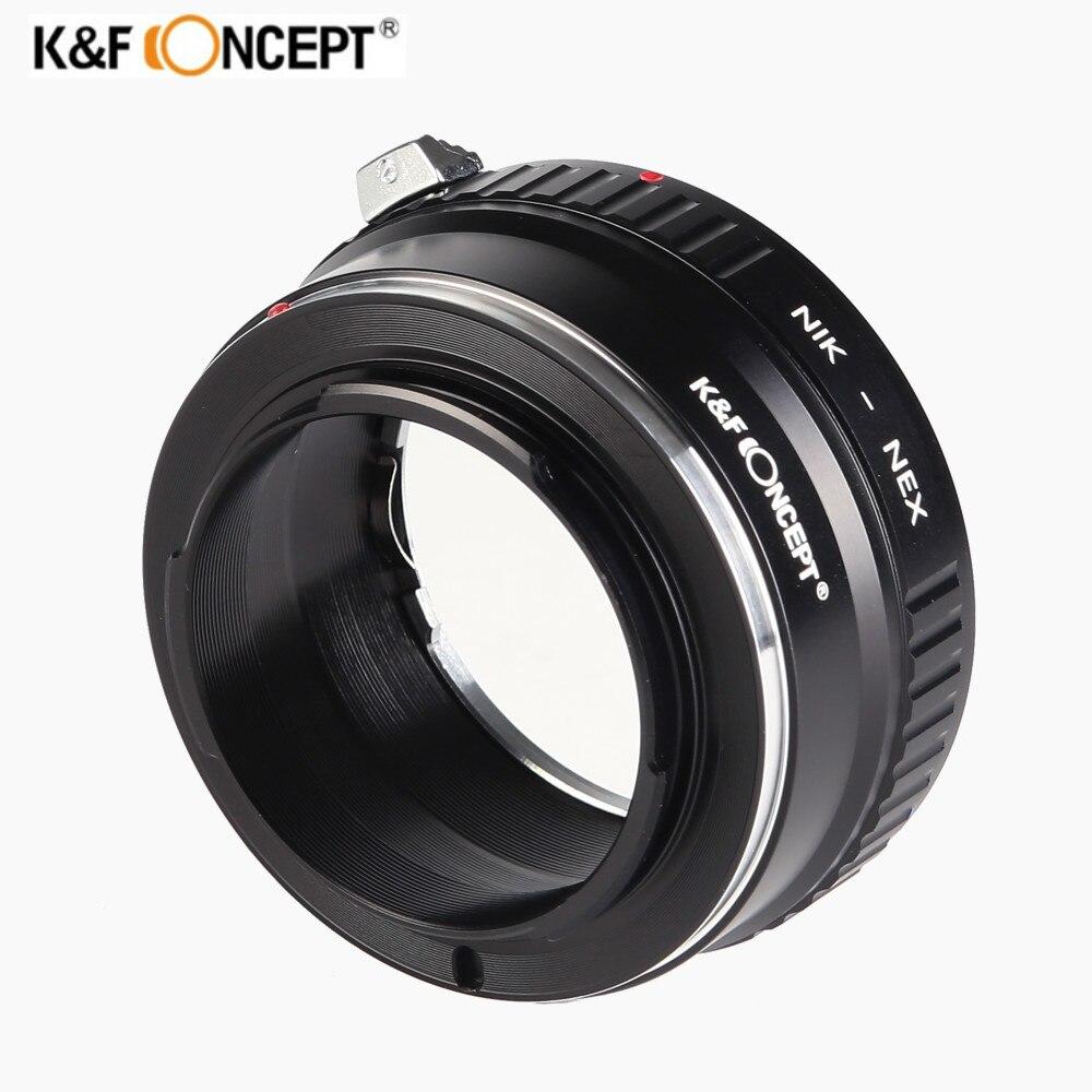 K & F CONCEPT AI-NEX Bague D'adaptation pour Nikon AI Lens pour Sony NEX E NEX-3 NEX-5 Caméra