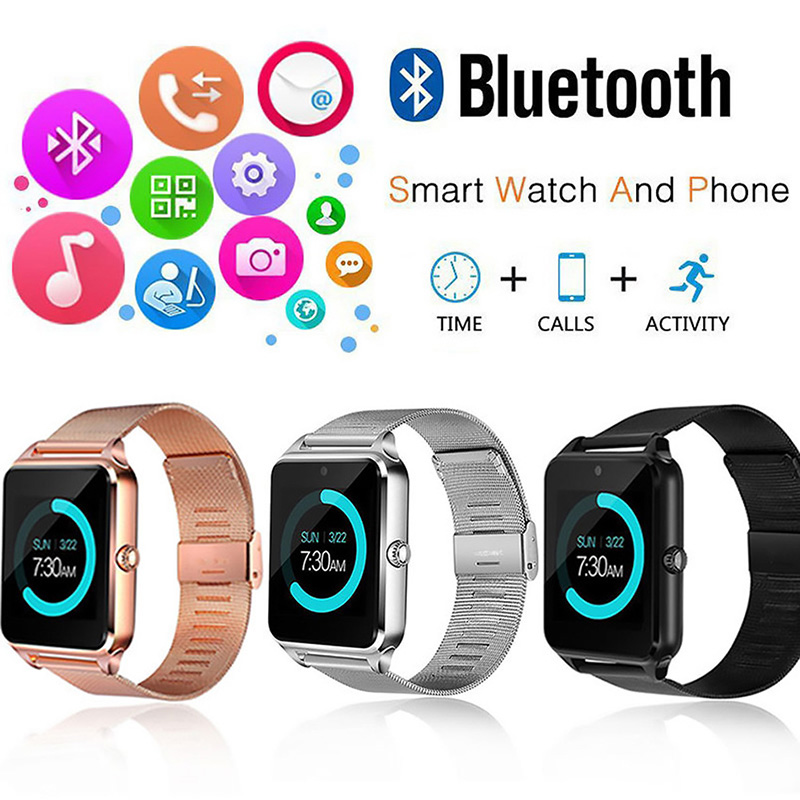The New Style MTK6260A GT09 smart watches Z60 Z50 touch with SIM cards sports Bluetooth watches mobile phones LSB01097