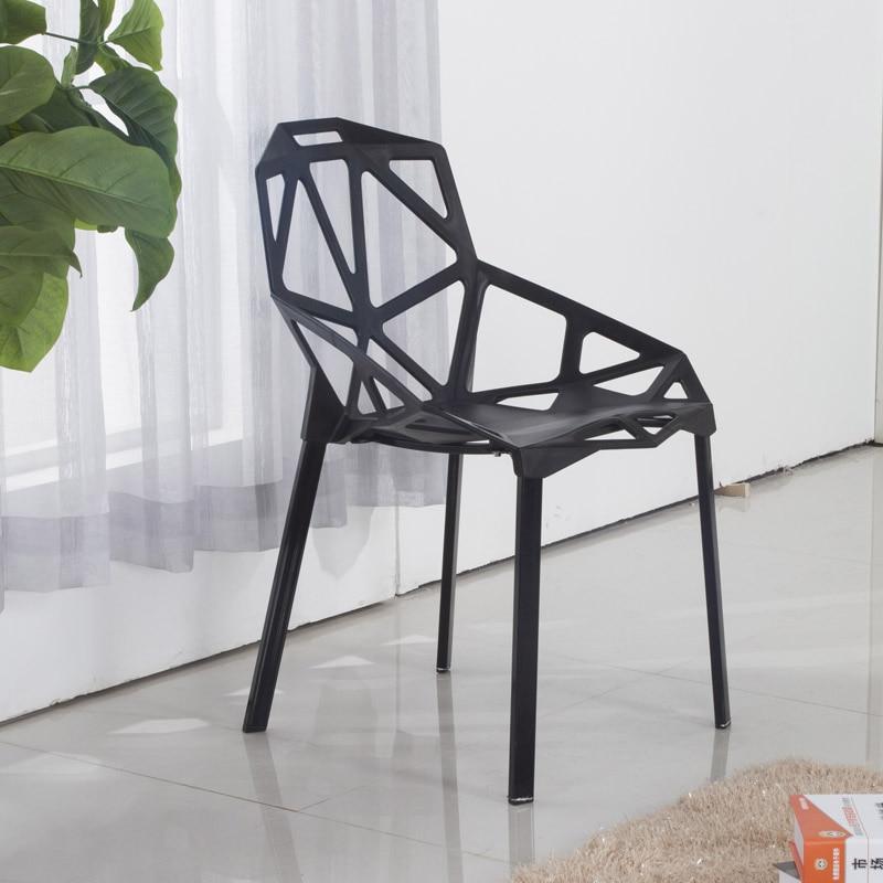 The geometric pattern Aluminium chairs dining room