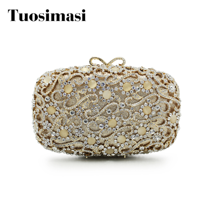 Gold and sliver color party bags women hot selling fashion evening clutch bag hollow out handbags bag(88198A-G) big full crystal women evening bags cheap price hot selling women handbags bag