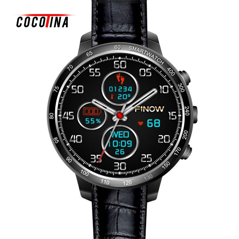 COCOTINA Smart Watch Android 5.1 OS 1.3 Inch Round Screen 512MB+8GB Support SIM Card Memory Card GPS WiFi Smartwatch ZNB2430 k1 android 5 1 os smart watch phone mtk6580 512mb 8gb support wifi sim card bluetooth gps smartwatch for ios android os