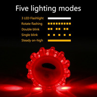 Coquimbo LED Road Flares Red Safety Flashlight Magnet Flashing Warning Lights Roadside Emergency Disc Beacon For