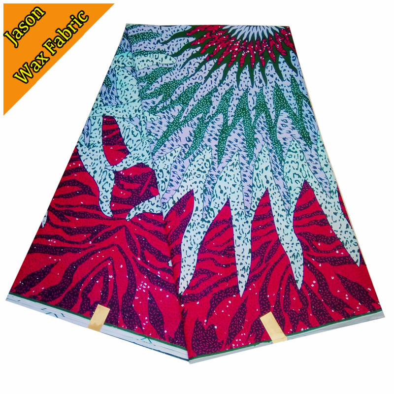 High Quality Ankara real Wax Fabric 6yards For sewing African Wax prints Fabric 100% cotton fabric / Free shipping LBL