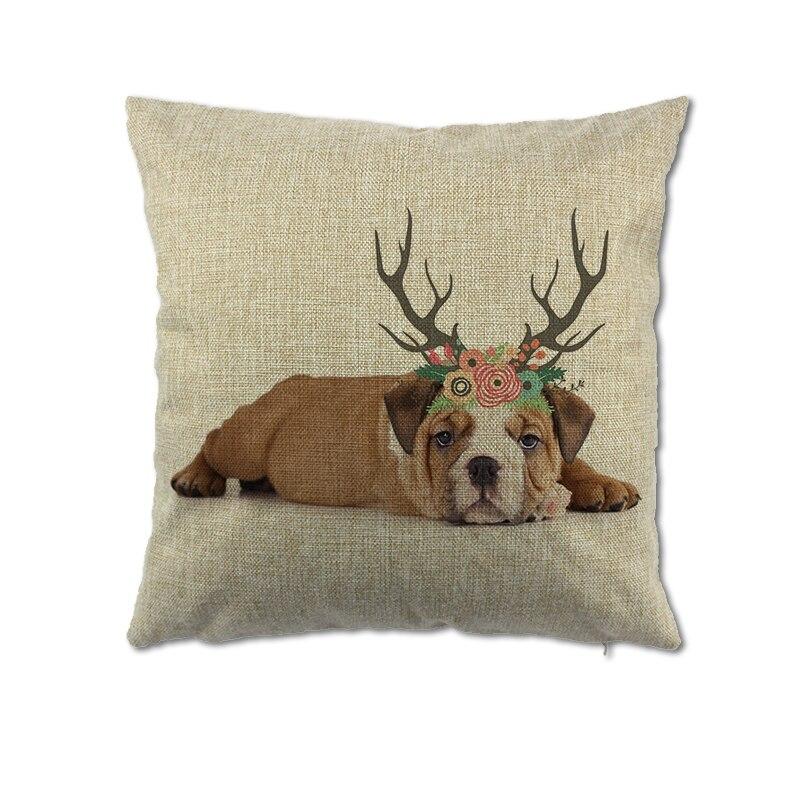 Собака с рогом Чехлы для подушек Nordic Стиль Cat Пледы Наволочки для дома моды decorateive уникальное животное Чехлы для подушек