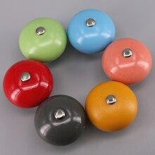 1PCS 40mm Colorful Ceramic Ball Cabinet Knobs Cupboard door Dresser Drawer Handles Pulls Kids Room Furniture knob