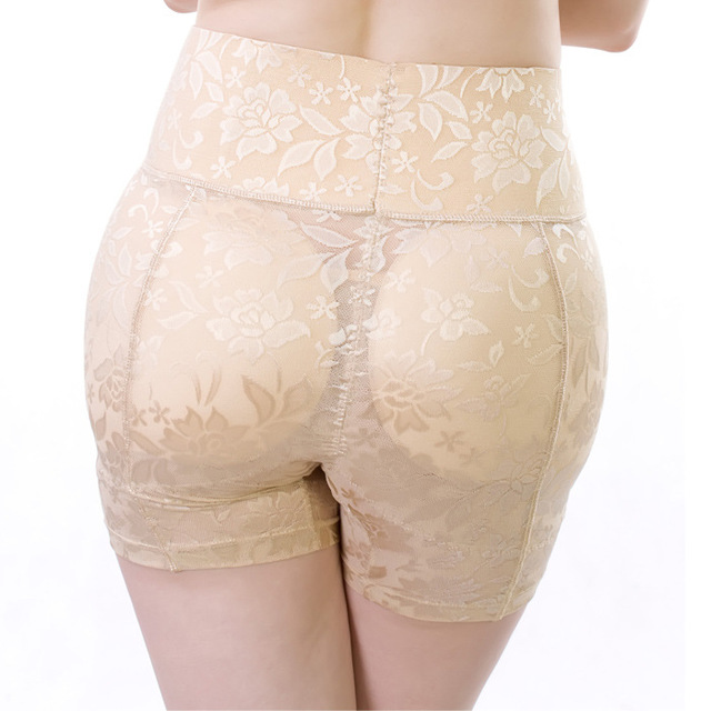 High waist Abundant fake butt pad hip pants New Control panties Fashion sexy Lace Breathable Buttock Underwear Lace Anti Emptied
