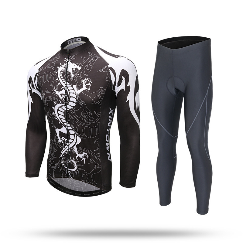 XINTOWN Cycling Clothing 2018 Black Spring Autumn Reflective Long Sleeves Cycling Jersey Sets MTB Bike Bicycle Wear Clothings wosawe men s long sleeve cycling jersey sets breathable gel padded mtb tights sportswear for all season cycling clothings