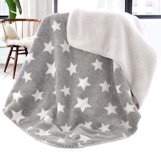 Bebé manta térmica Coral polar manta de la estrella infantil Swaddle ...