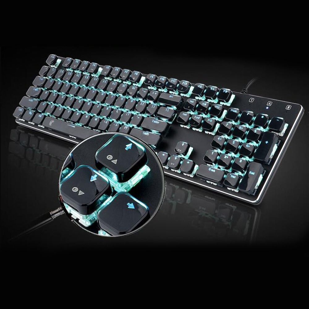 104 Keys Layout Low Profile Keycaps Set For Mechanical Keyboard Backlit Crystal Edge Design Cherry MX With Key Caps Puller