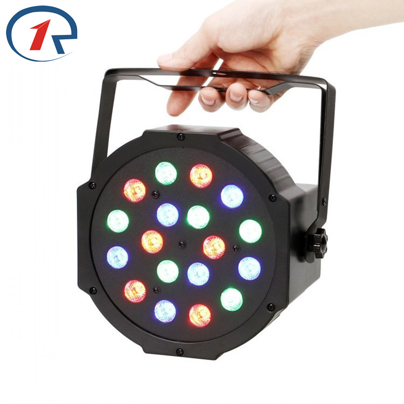 ZjRight 18x1W Led RGB Par Lights Stage DMX512 Master Slave Flat DJ Equipments Controller disco ktv handle hang ceiling lighting dmx512 digital display 24ch dmx address controller dc5v 24v each ch max 3a 8 groups rgb controller
