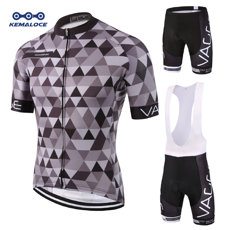 Kemaloce 2019 Mountain Team Cycling Wear Set Maillot Ropa Ciclismo Herre Sykkeklær Road Cyclist Sykkelklær Uniform Kits