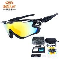 5 Lens Brand New Jaw Outdoor Sports Cycling Sunglasses Eyewear TR90 Men Women Bike Bicycle Breaker