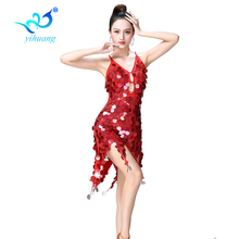 Women Latin Dance Dress Performance Wear Tassel Sequin Costumes Night Bar Singer Jazz Modern Dancing