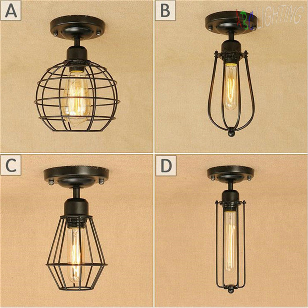 Loft Edison Vintage Ceiling Lamp Fixture Retro Kitchen