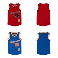 Mens #56 HAUS OF JR Mikey with Patch Throwback Movie Basketball Jersey Stitched S 4XL