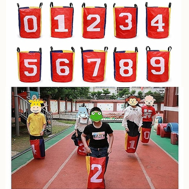 Outdoor Jumping Bag Kids Potato Sack Race Bags Sports Toys Balance Training Jump