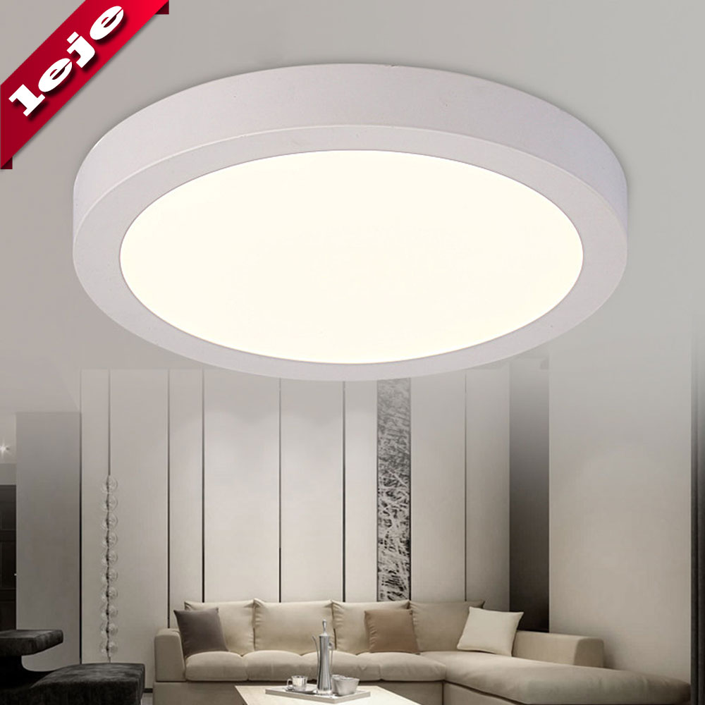 Surface Mounted Led Ceiling Light Panel Lamp Round Square 6w 12w 18w 24w For Kitchen