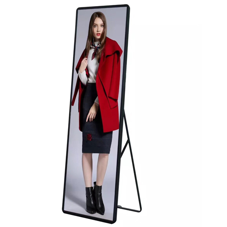 Indoor Wireless P2.5 Poster Led Display Screen Advertising Led Player Mirror Led Screen For Shopping Mall, Restaurant