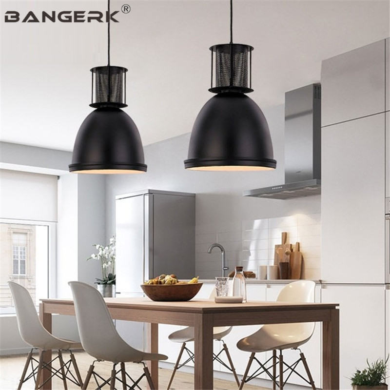 Nordic Industrial Vintage LED Pendant Light Iron Loft Black Hanging Lamps Home Lighting Fixtures Dining Room Lights Luminaire