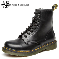 100 Genuine Leather Men Martin Boots All Season Motorcycle Boots Men Ankle Boots Cow Split Shoes