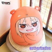 ZHAIDIANSHE anime 45cm Umaru doll hamster shape bolster plush pillow Himouto!Umaru chan lovely gifts toys for children