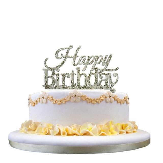 Kinder Geburtstag Kuchen Acryl Kuchen Topper Glitter Gold Silber