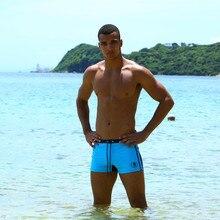Hot Swimwear Men Breathable Swimsuits Man Swim Trunks Boxer Briefs Sunga Swim Suits Maillot De Bain Beach Shorts