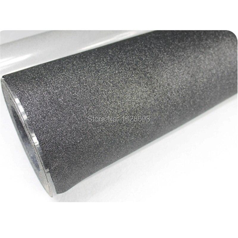CDG 11 black color wholesale glitter heat transfer vinyl for clothing for 27 yards