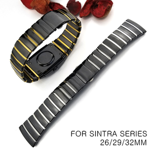 Image 1 - 20mm 29mm 32mm Ceramic Watch Band Wristwatch for Rado Sintra Series Strap Brand Watchband Man Woman Black